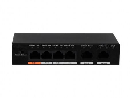PoE / Switch - L-SW-04060 4-fach PoE-Switch mit 2 zus. Uplink-Ports