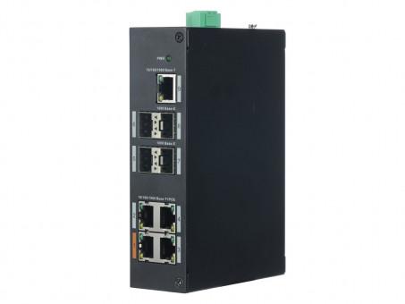 PoE / Switch 9-fach Switch (4x PoE, 4x SFP-Port, 1x Upl.) - L-SW-04096